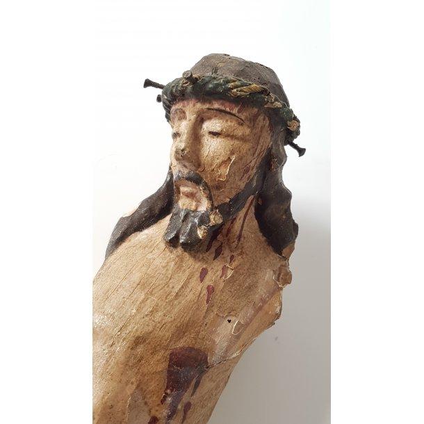 Barok Jesus figur udskåret i træ