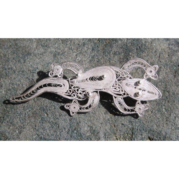 Filigran broche i sølv